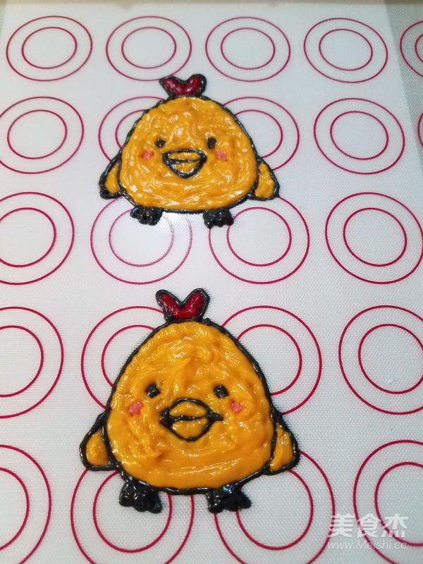 彩绘蛋糕卷(小鸡快跑)怎么做