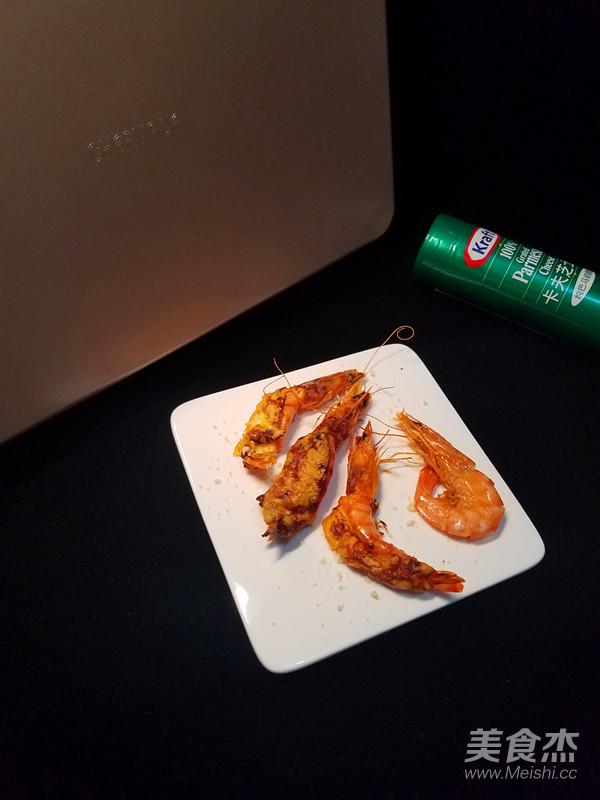 霸王超市丨芝士焗虾成品图