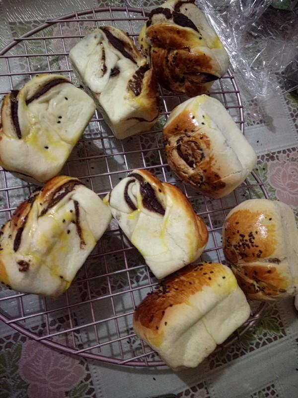 豆沙小面包的制作方法