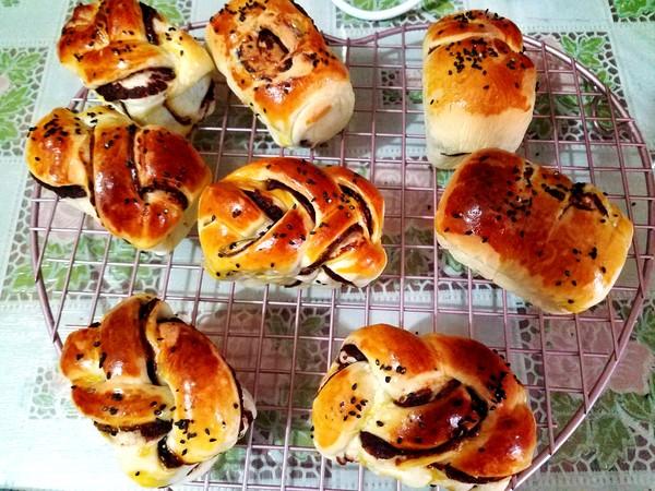 豆沙小面包的制作大全