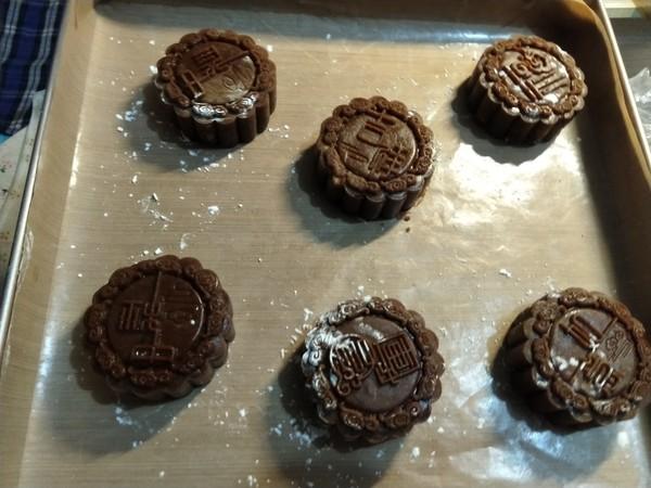 黑糖月饼的制作