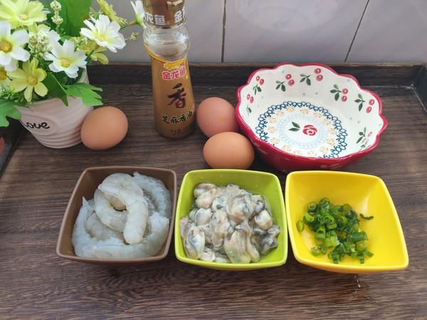 海蛎子虾仁蒸蛋,鲜味十足超好吃!的做法大全