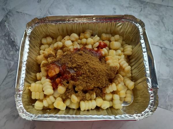 香辣孜然烤玉米粒的家常做法