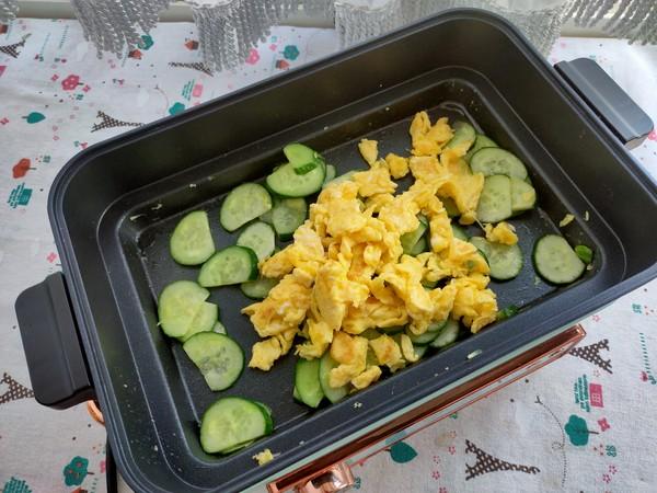 简单两步搞定的黄瓜炒鸡蛋,营养又美味怎么吃