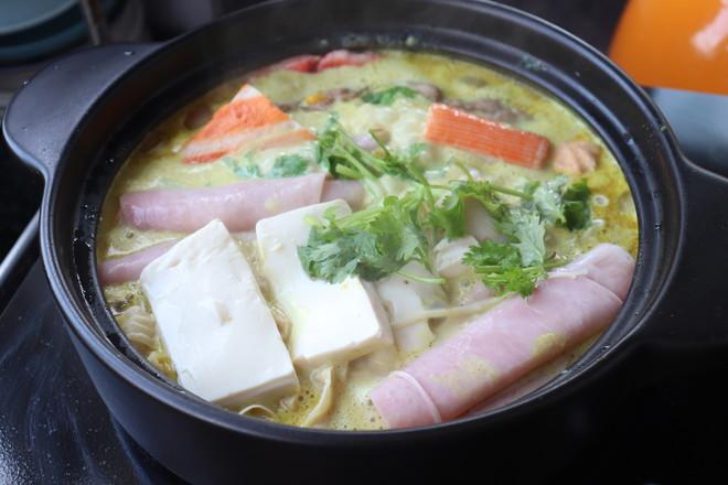牛奶咖喱火锅的简单做法