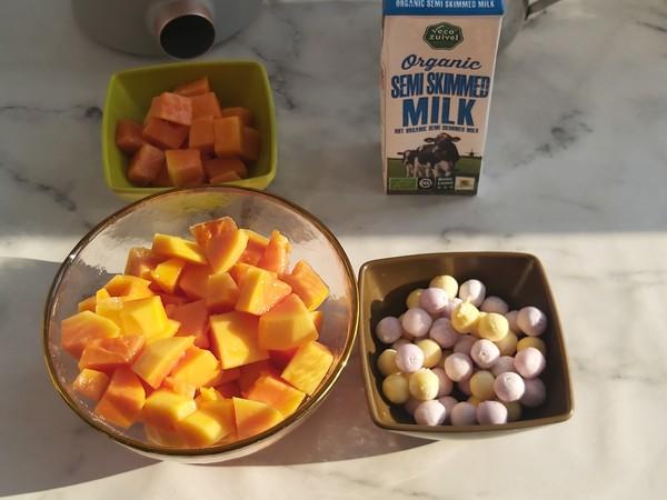 小丸子木瓜奶昔,周末养颜小甜品的做法大全