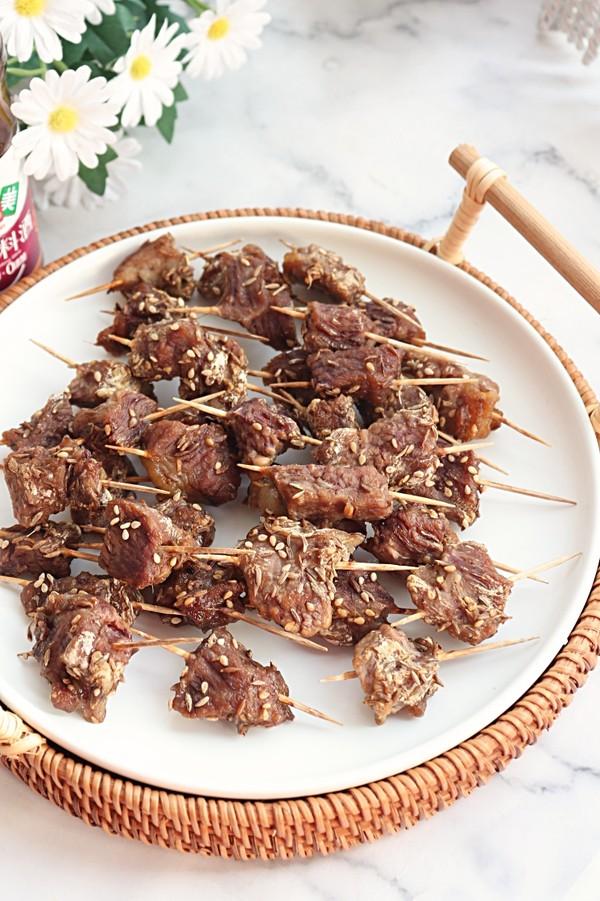 简单易做的健康小零食--牙签牛肉,看一次就会!成品图