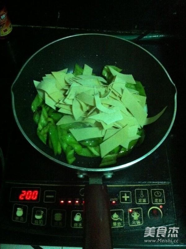 尖椒豆皮的简单做法