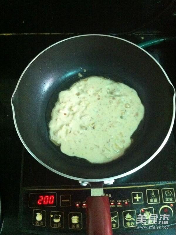 辣白菜早餐饼怎么吃