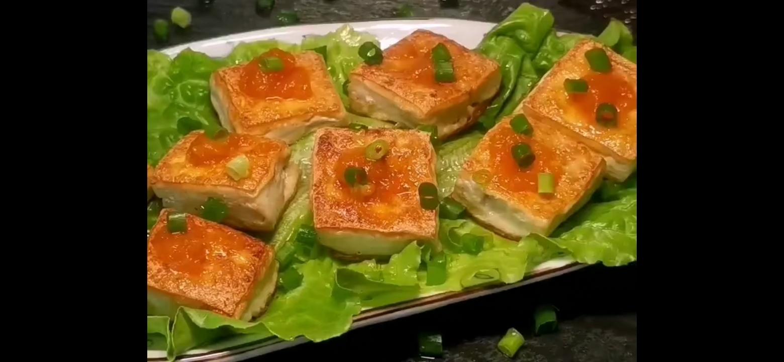 咸蛋黄豆腐怎么吃