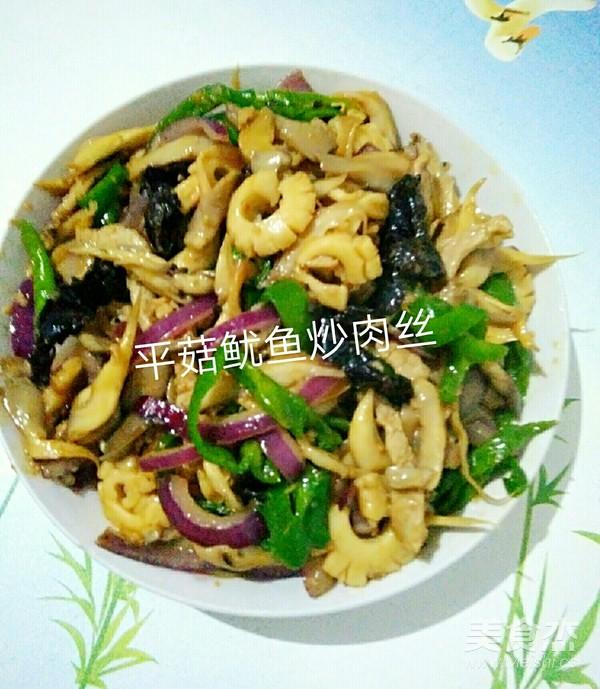 平菇鱿鱼炒肉丝怎么做
