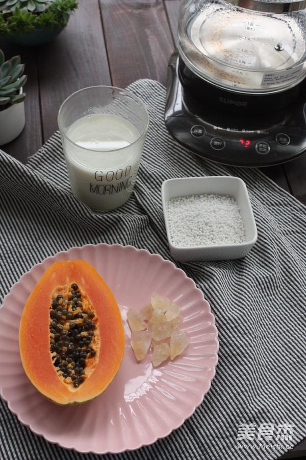 木瓜牛奶西米露的做法大全