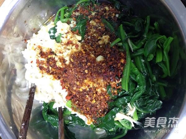 芝麻酱拌菠菜金针菇怎么做