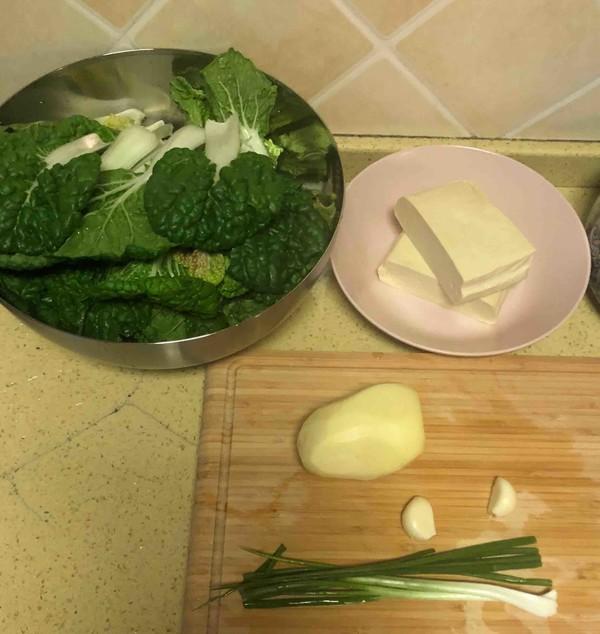 小白菜烩豆腐的做法大全