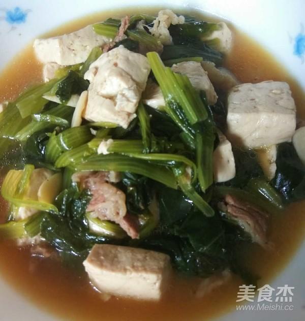 小白菜炖豆腐怎么煮