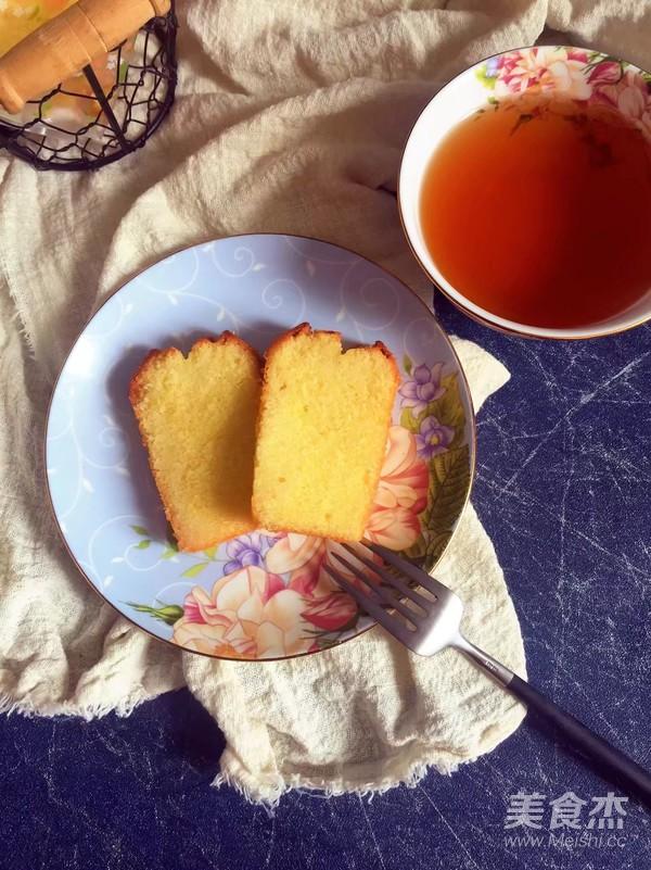 柠檬百香果磅蛋糕成品图