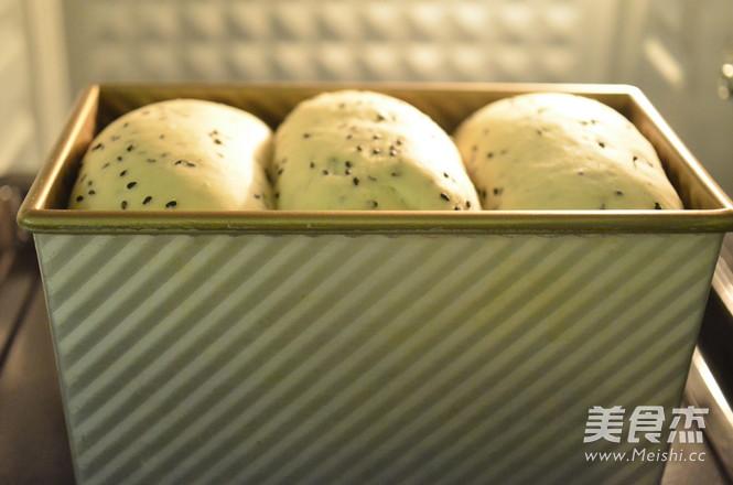 黑芝麻米饭吐司的制作