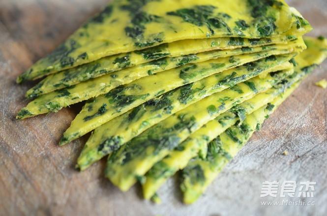 芹菜叶蛋饼怎么煮
