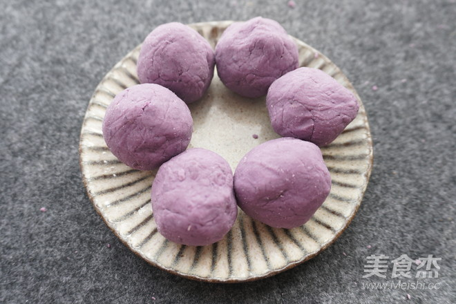紫薯糯米饼怎么吃