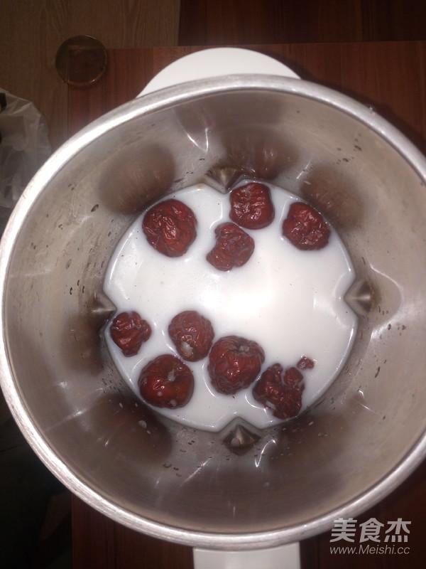 枣香味豆奶的简单做法