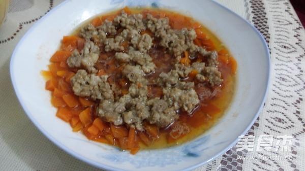胡萝卜蒸肉饼成品图
