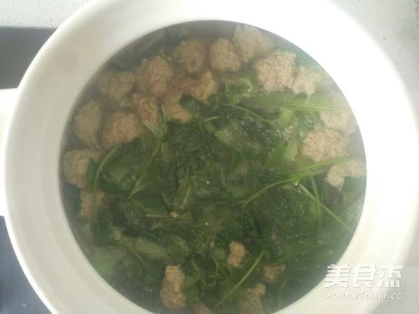 排骨小白菜丸子汤怎么煮
