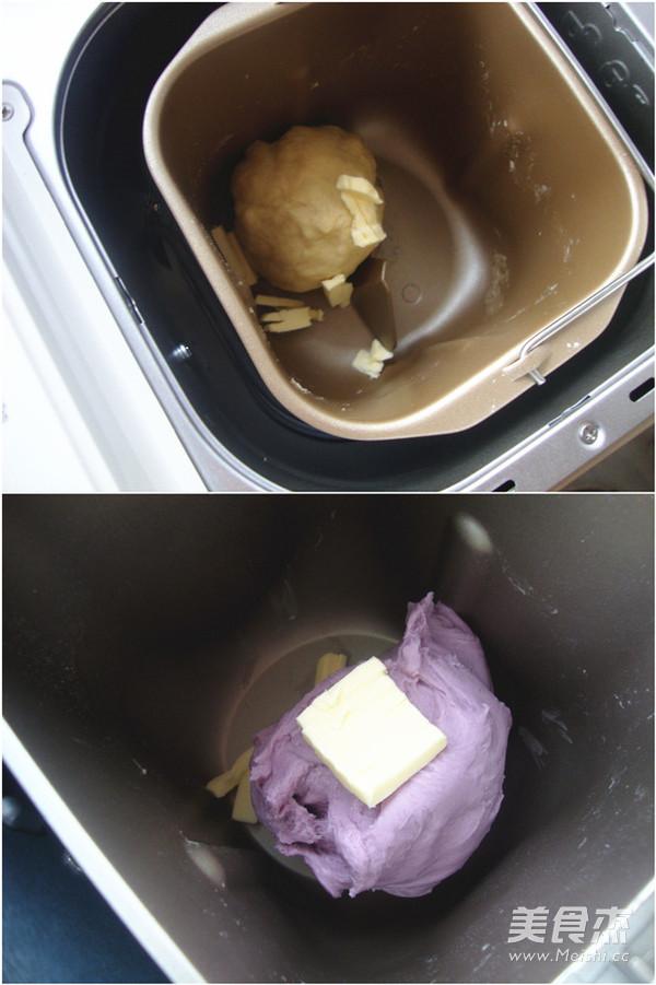 紫薯双色吐司的做法图解
