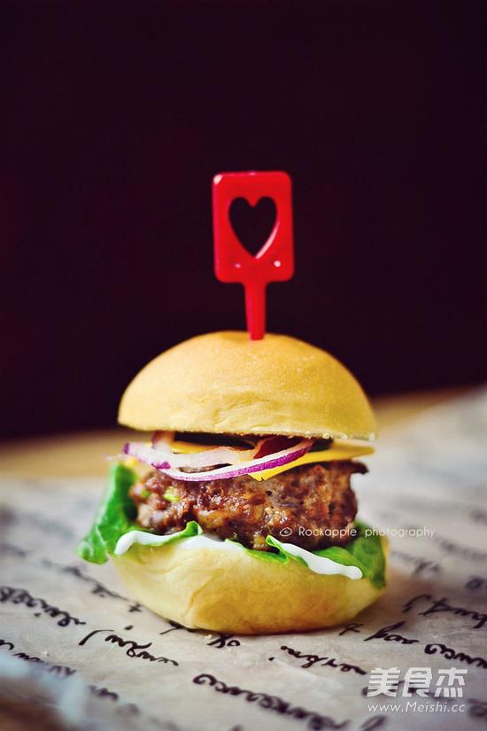 苏打牛肉迷你汉堡成品图