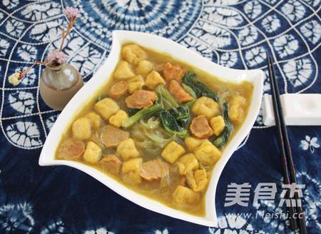 咖喱牛肉丸油豆腐粉汤怎样做