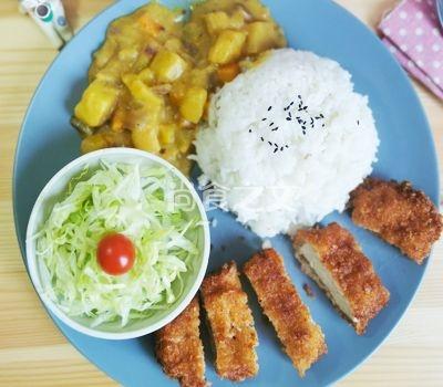 咖喱猪排饭怎样做