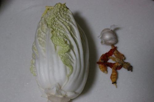 抗癌物之酸辣大白菜的步骤