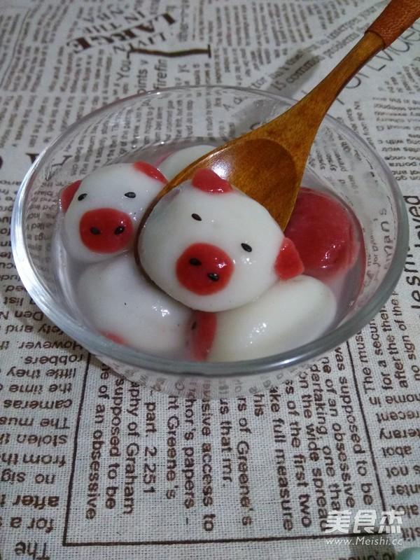 可爱的小猪猪汤圆怎么煮
