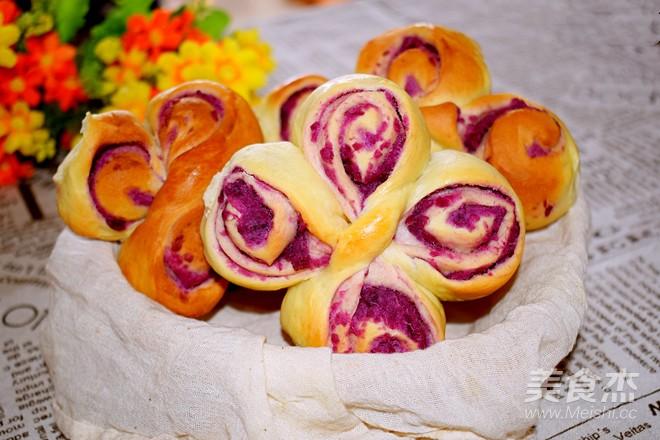 卷卷卷一朵紫薯花的制作