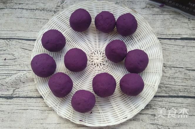 紫薯豆沙球怎么做