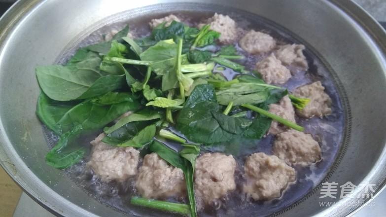 菠菜肉丸汤怎么炒