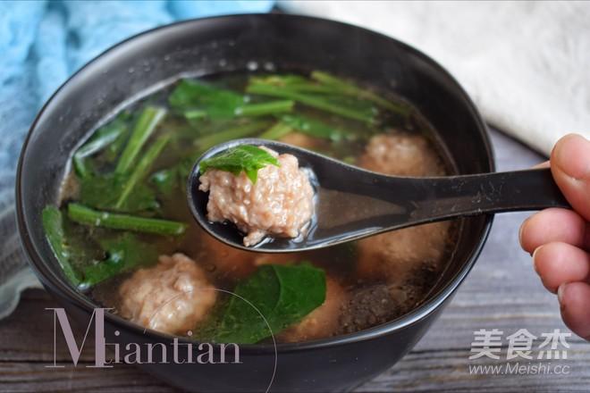 菠菜肉丸汤怎么煮