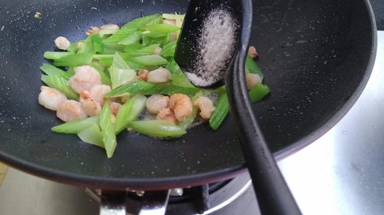 西芹炒虾仁怎么煮