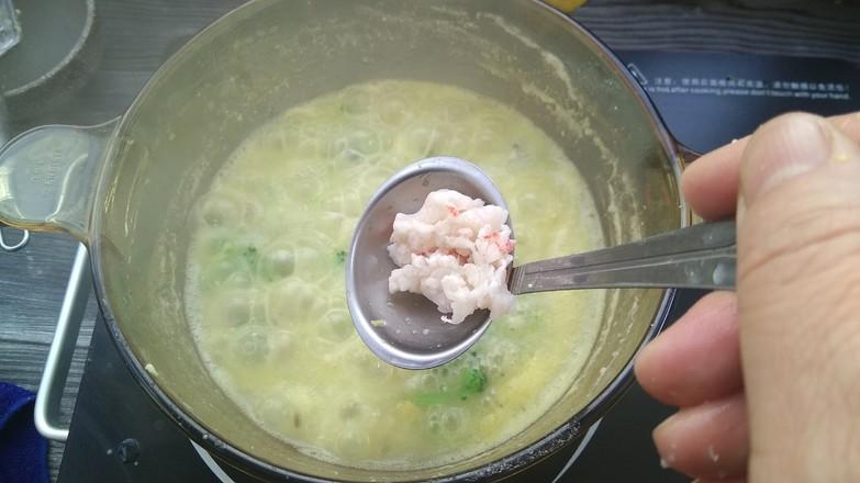 宝宝果蔬磷虾粥早餐怎么煸
