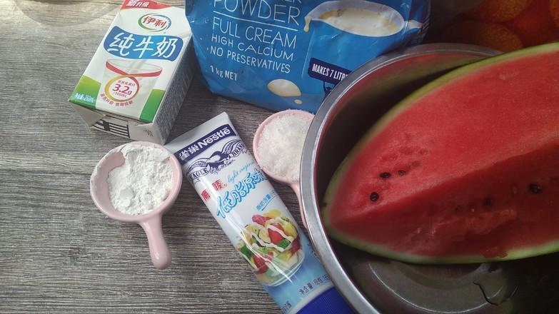 牛奶西瓜雪糕#下午茶的做法大全