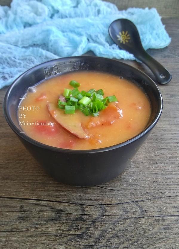 番茄豬肝糯米粉濃湯成品圖