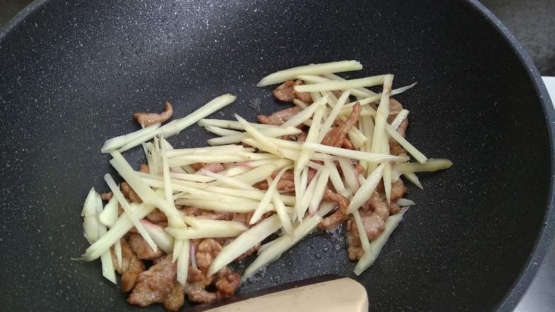 姜丝炒肉的步骤