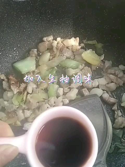 xo酱黄豆焖猪肉的步骤