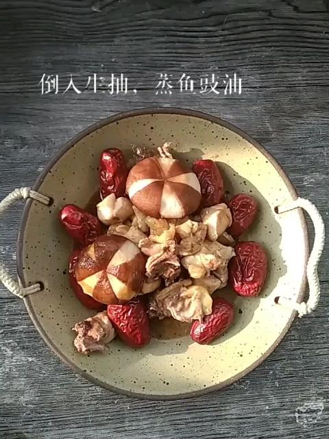 红枣蒸油鸡的步骤