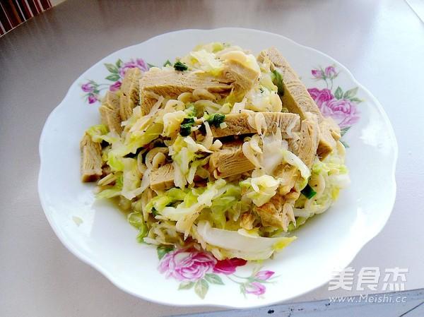圆白菜炒豆腐干怎样做