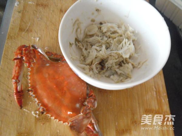 蟹肉金沙豆腐的做法图解
