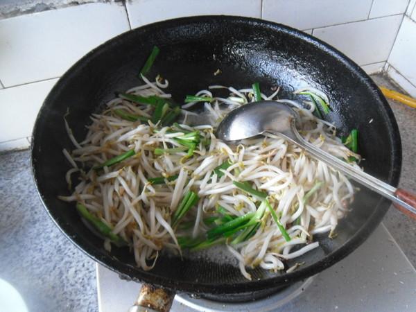 绿豆芽炒韭菜怎么煮