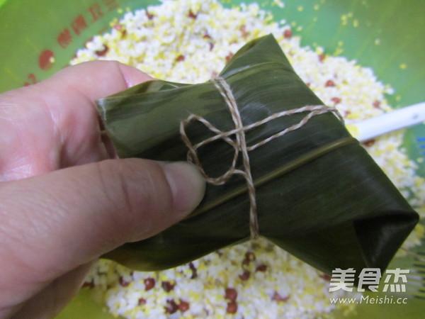 尖角素粽子的制作方法