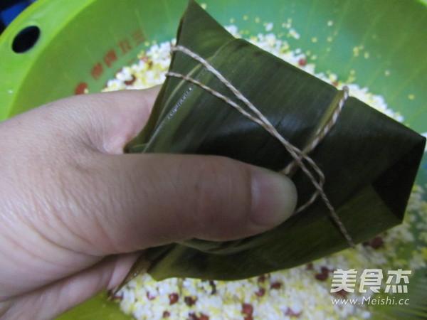 尖角素粽子的制作
