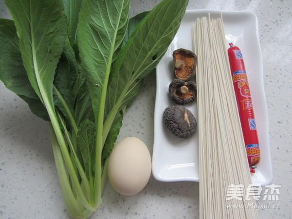 香菇鸡蛋汤面的做法大全