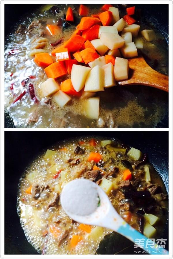 胡萝卜土豆炖牛肉怎么炒